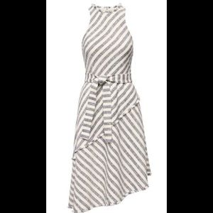 Banana Republic Asymmetrical Tweed Striped Dress